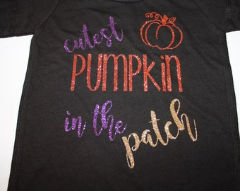 Cutest Pumpkin in the Patch Shirt, Pumpkin Shirt, Halloween Shirt, Girls Halloween Shirt, Girls Burnout Shirt, Thanksgiving Shirt, Halloween