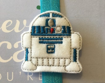 Planner Band - Blue and White Robot on a Blue Band