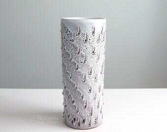 Vintage Lava Glaze Cylinder Vase Fratelli Fanciullacci Style