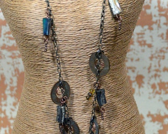 African Brass mixed metal necklace - #114