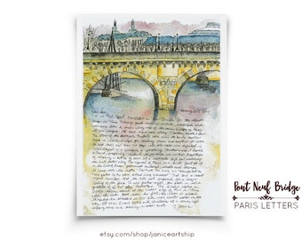 Pont Neuf Bridge: Paris Letters, March, A letter about this bridge, called New Bridge, but it's the oldest bridge in Paris
