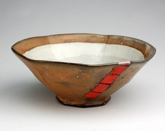 Salad Bowl with Pink Squares
