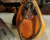 deerskin medicine bag with celtic tie fob