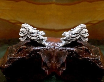Demon Earrings Sterling Silver Free Domestic Shipping