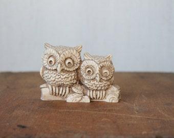 Vintage Owls // White Ceramic Owls // Owl Collectible