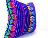 Purple Pillow, Tribal Pillows Covers, Colorful Pillow Covers, Bohemian Decor, Boho Bedding, Mexican Cushion, Square, tribal pillowcase.