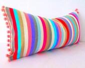 Tribal pillow, serape pillow, mexican lumbar pillow cover, Mexico Pillow, bohemian decor, southwestern pillow, pillow case aztec