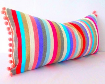 Tribal pillow, serape pillow, mexican lumbar pillow cover, Mexico Pillow, bohemian decor, southwestern pillow, pillow case aztec