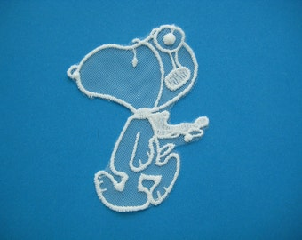 SALE~ Sew-on Applique Snoopy the Pilot 3.75 inch