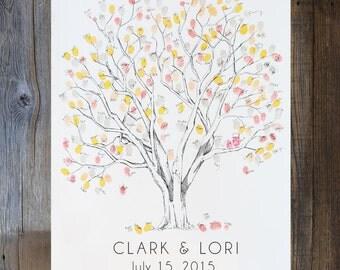 Large Cottonwood, THE Original Fingerprint Tree, Wedding Guest Book Alternative, Original Design, thumbprint tree, (ink pads sold separate)