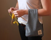 Knitting Bag, Small Project bag, travel bag for knitting, pouch, Wristlet