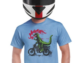godzilla shirt funny monster t-shirt japanese movie shirts motorcycle tshirt biker geeky nerd tshirt harley most popular sellers t-shirt