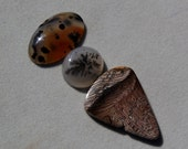 U-Pick or set of hells canyon petrified wood,  montana agate, dendritic agate, plume agate, natural stone cabs, focal stones, DIY jewelry