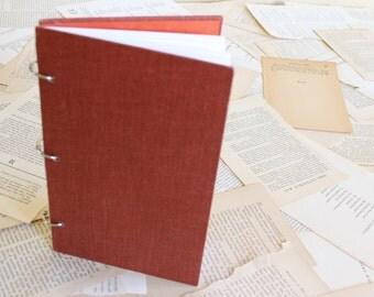 Vintage Book Cover Journal, Sketchbook, Upcycled Antique Book, Blank Notebook-Brick RedJournal