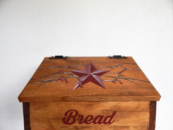 Bread Box, Wooden Bread Box, Primitive Bread Box, Primitive Decor, Primitive Kitchen, Farmhouse Decor, Country Decor, Storage for bread