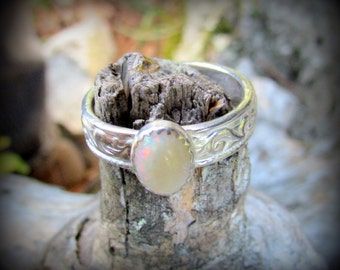 Ring- Opal in Sterling Silver (Size 7.5)