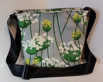 CUSTOM Made to order Scoop Pocket shoulder bag with adjustable strap, various prints