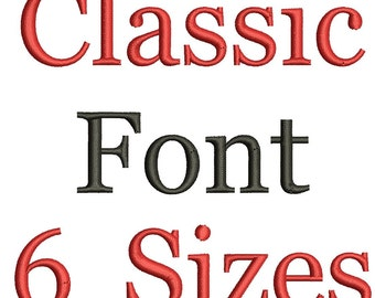 Machine Embroidery Font Alphabet - 6 Sizes