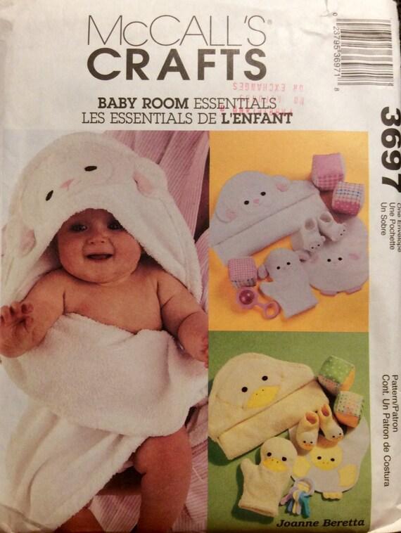 Baby Bedroom Essentials: Sewing Pattern Baby Room Essentials Bath Towel Wash Mitt Bib