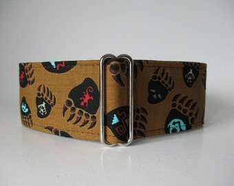 Martingale Dog Collar, Bear Martingale Collar, 2 Inch Martingale Collar, Bear Dog Collar, Whippet Collar, Dog Collar for Boys