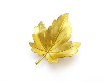 Leaf Hair Clip Gold Bridal Barrette Bride Bridesmaid Nature Vintage Style Botanical Garden Rustic Woodland Wedding Accessories Womens Gift