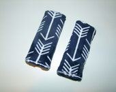 Arrow Car Seat Strap Covers - Minky Strap Covers - Arrow Car Seat Accessory - Navy arrow minky - Infant Strap Covers - Ships in 1-3 Days