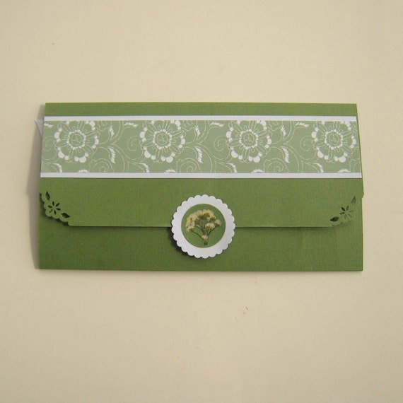 Custom Gift Envelope for Butterfly Garden Creations Bookmark, Your Choice of Colors and Design