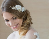 Wedding headpiece Bridal hair accessories Bridal hair vine Gold Wedding hair comb Wedding hair accessories Floral hair comb Bridal Hair Comb