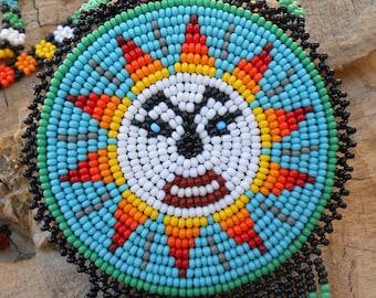 Mexican Sun Image Design Handmade Necklace