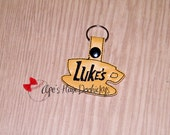 Almost Gone! Luke's Cafe Shop Key Chain or Bag Tag