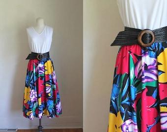 vintage floral sundress - TROPICS of CANCER tank dress / M-L