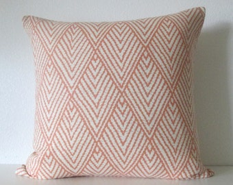 Ballard Design Belize Apricot Tahitian orange geometric decorative pillow cover