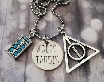 Accio Tardis - Keychain, Necklace, Fandom, Multi Fandom, Gift, Police Box