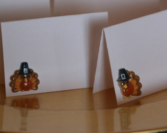 Turkey Thanksgiving Place Cards Set of 10