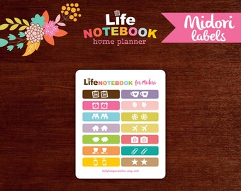 TAB STICKERS > The Life Notebook for Midori