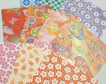 Chiyogami Paper Pack for Traditional Japanese Origami Paper Project- 100 sheets (10 designs)