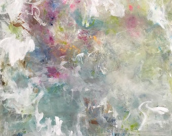 Large Abstract Expressionist Original Painting- Lyrical Garden