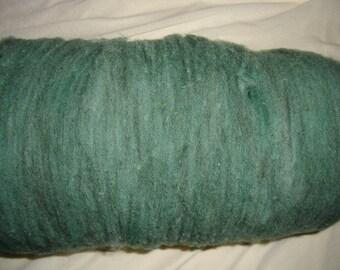 BATT - Wool Fiber - Evergreen - like roving