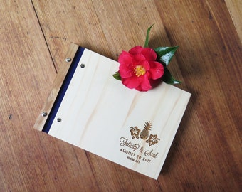 Wedding Guest Book. Photo Album Scrapbook. Tropical Wedding. Engagement Gift. Guestbook | Hawaii