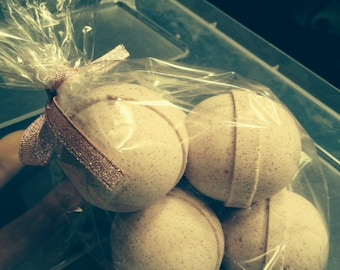 5 Round bath bombs in scents men love...our 2.5 oz Bag of Balls - Manly Scents, ultra moisturizing