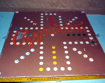 Vintage AGGRAVATION marble game 1962 Complete CO-5 company No 13 The New Game
