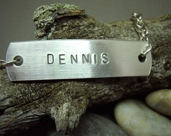 Men's ID Bracelet, Personalized Name Bracelet
