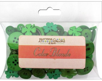 Buttons Galore Color Blends St Patrick's Green Sewing & Crafts Button Assortment