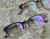 handmade prescription sunglasses lenses brown Leopard eyebrow glasses
