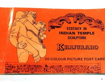 "Set of colored cards. 20 pcs. ""Ecstacy in Indian Temple sculpture KHAJURAHO"""