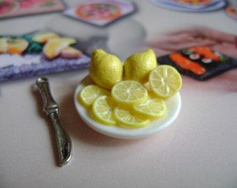 Dollshouse Food , lemon platter