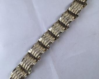 1980s Gold Rope Cuff Bracelet