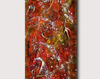 Autumnal - Abstract Expressionism Painting Expresionist Painting Orange Autumn Fall