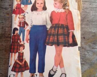 Vintage Sewing Pattern Advance 3038 Girl's Size 10 Seven Day Wardrobe