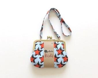 girls bag. stars. girls purse. small bag for kids.